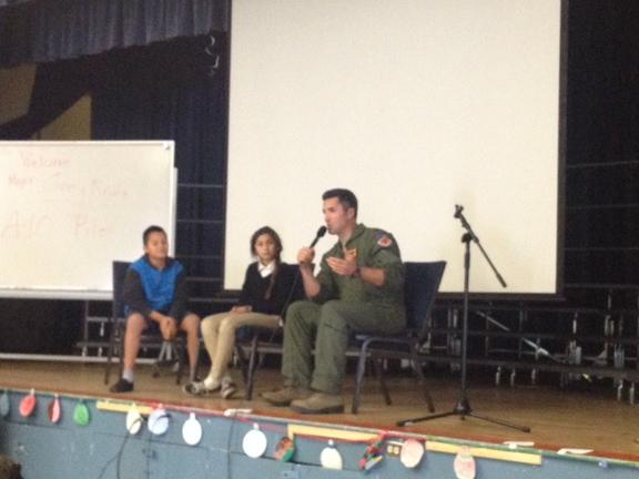 Major Krino sharing his Educational Journey.