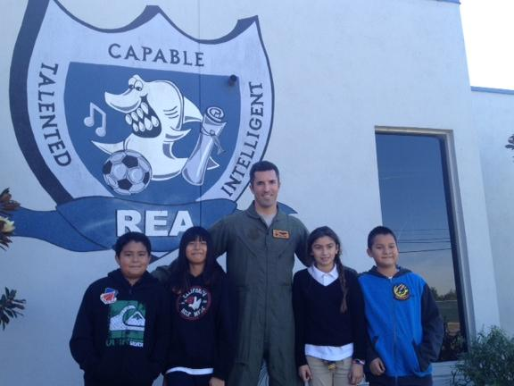 Students earned patches for answering questions about Aerospace.